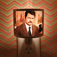 Ron Swanson Parks and Rec Night Light bathroom hallway bedroom TAKE IT with