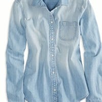 's Chambray Button Down Shirt (Light Wash)