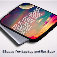 Infinite Quote Z0027 Sleeve for Laptop, Macbook Pro, Macbook Air (Twin Sides)