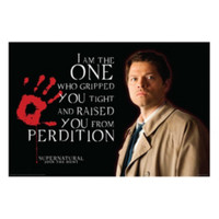 Supernatural Castiel Perdition Poster