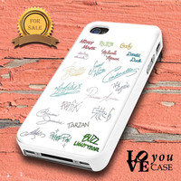 Disney all character signature    for iphone, ipod, samsung galaxy, HTC and Nexus PHONE CASE