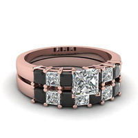 AMAZING 1.68CT PRINCESS  925 STERLING SILVER ENGAGEMENT AND WEDING RING FOR HER