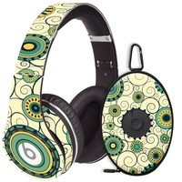 Swirls Yellow Decal Skin for Beats Studio Headphones & Carrying Case by Dr. Dre