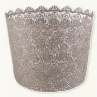 Crocheted Baskets (Set Of 3) - Lace Trash Can, Lace Wastebasket
