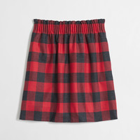 Factory pleated mini skirt in plaid