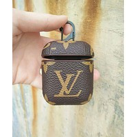 LV Louis Vuitton & GUCCI Fashion New Monogram Print Women Men Protective Case Earphone Case No Headphones