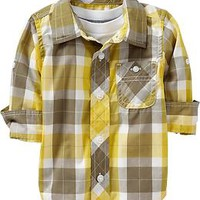 Roll-Sleeve Shirts for Baby