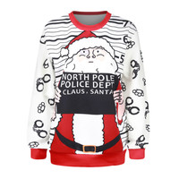 Print Pullover Sweatshirts Winter Ugly Christmas Sweater Pattern Hoodies [9440720580]