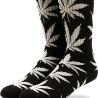 HUF Plantlife Glow In The Dark Crew Black and White Socks