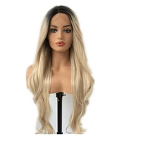 Paulina- Ombre Front Lace Synthetic Long Natural Wave Wig