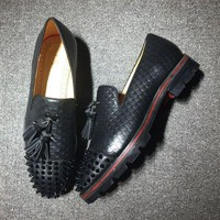 DCCK2 Cl Christian Louboutin Loafer Style #2405 Sneakers Fashion Shoes