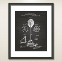 Punching Apparatus 1895 Patent Art Illustration - Drawing - Printable INSTANT DOWNLOAD - Get 5 colors background