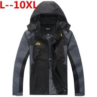 Trendy plus 10XL 9XL 8XL 6XL 5XL 2017 New Men's Casual Jackets Man's Army Waterproof Coats Male Jacket Breathable Windproof Raincoat AT_94_13