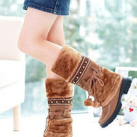 Thigh High Boots 12CM High Heels Back Straps Women Shoes