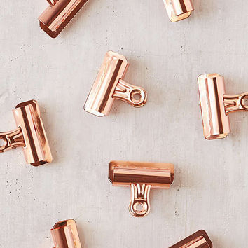 Copper Bulldog Clips Set | Urban Outfitters