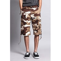 Belted Camo Cargo Shorts (Big Sizes)