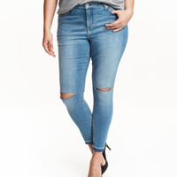 H&M H&M+ Slim ankle ripped jeans $49.99