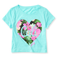 Kids' Floral Cali Boxy Graphic T