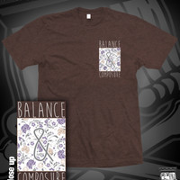 BAC FLORAL LEFT CHEST TEE ON RUSSET