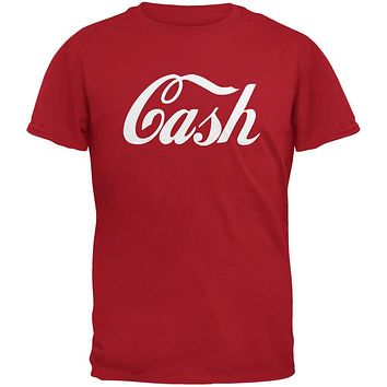 Cash Inspired By Jack White Red Adult T-Shirt