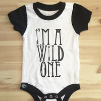 Wild One Black and White Onesuit - Slyfox Threads