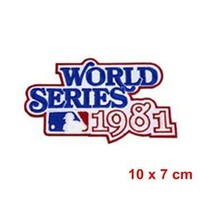 Hot Cut Or Iron On Patch Of 1981 World Series Logo Jersey Patch New York Yankees Los A