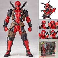 15cm Marvel Univers Super Heros Deadpool Joint movement Action Figure Collection toys for christmas gift Weapons