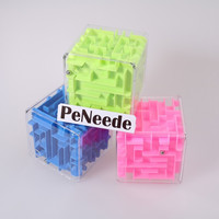 3D Mini Cube Labyrinth Rolling Ball Fidget Toy for ADHD & Autism