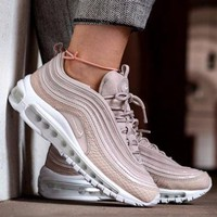 Best Online Sale Nike Air Max 97 Premium Silt Red Running Shoes Prm Pink White Sport Shoes 917646-600