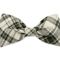 Dog Bow Tie- Green Plaid Bow Tie - Bowtie for dogs - dog bow tie collar accessory - Green Bow Tie for Dogs