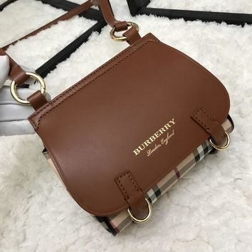 Burberry The Bridle Small Haymarket Checkleather with Strap