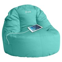 Solid Twill Leanback Lounger Speaker Media Chair, Pool