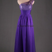 cheap regency prom dresses with Rhinestones applique one shoulder party gowns chiffon and tulle dress for party unique evening dress