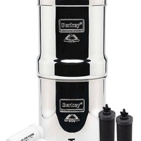 Big Berkey 2.25 gallon Water Filter Special Set with 2 Black Elements and 2 Fluoride Filters