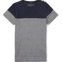 Balmain - Linen and Cotton-Blend Breton T-Shirt | MR PORTER