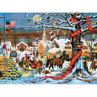 Buffalo Games Small Town Christmas Jigsaw Puzzle - Puzzle Haven