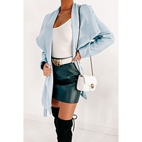 Simple Wonders Belted Coat (Blue)