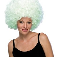 Rubie's Costume Glow-In-The-Dark Supersize Afro Wig, Blue, One Size