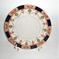 Vintage A  9 n 3/4 Burgess Bros Longton Carlisle-ware Plate-Made in England/Hard To Find Burgess Bros. China Dinner Plate/Made 1922 to 1930