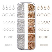 1104 Pieces Jewelry Findings Kit Lobsters Clasps and Jump Rings for Jewelry Making (Multicolor C)