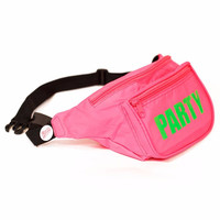 Pink Neon Party Fanny Pack