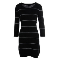 French Connection Womens Knit Crew Neck Sweaterdress