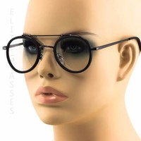 Classic Vintage Retor HIPSTER HIPPIE Round CIRCLE Style Clear Lens Sun Glasses