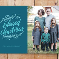 blessed christmas script Custom Stationery by atic... | Minted