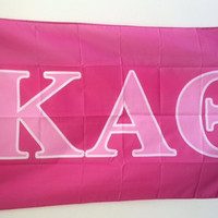 Kappa Alpha Theta Dark Pink/Light Pink Letter Flag 3' x 5'