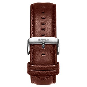 22mm Brown Padded Leather Band