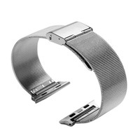 38mm 42mm Silver Stainless Steel Wrist Watchband For Apple Watch Band Strap with Connector Adapter for iwatch Bands