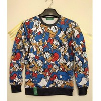 New Arrival 2016 Mens/Womens Autumn Hoodies Cute Donald Duck 3D Printed Geative Graphic Sweatshirts Causal Jumper Pullover Tops