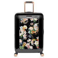 Buy Ted Baker Opulent Bloom 4-Wheel 69.5cm Medium Suitcase, Black online at John Lewis