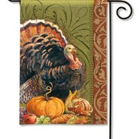 Thanksgiving Greeting Garden Flag